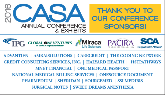 CASA Conference Sponsor Thank You